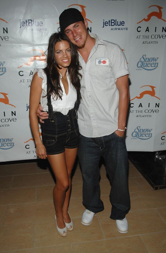 Jenna and Channing attend a party in the Bahamas in July 2007
