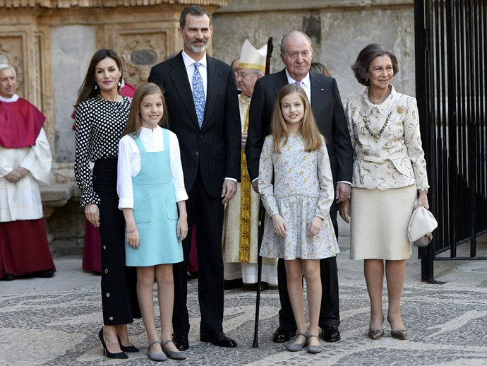 The Spanish royal family had a feud on Easter Sunday and there's a video