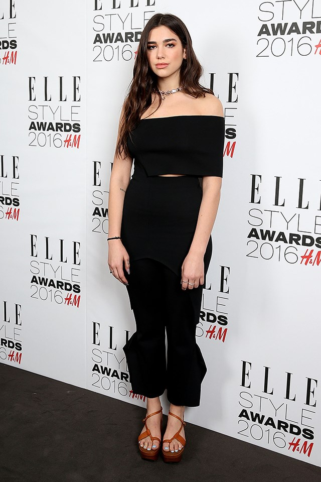 Dua Lipa at the *ELLE* Style Awards in February 2016.
