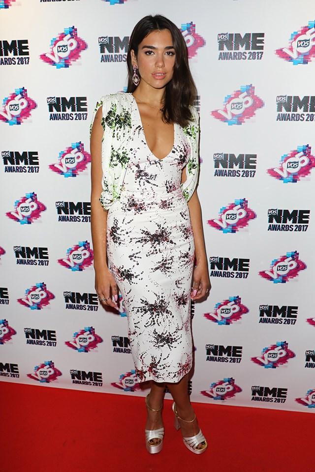 Dua Lipa at the NME Awards in February 2017.