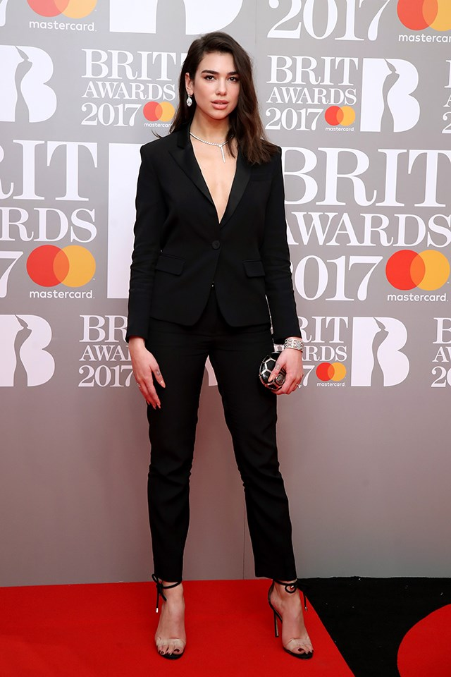Dua Lipa at the Brit Awards in February 2017.