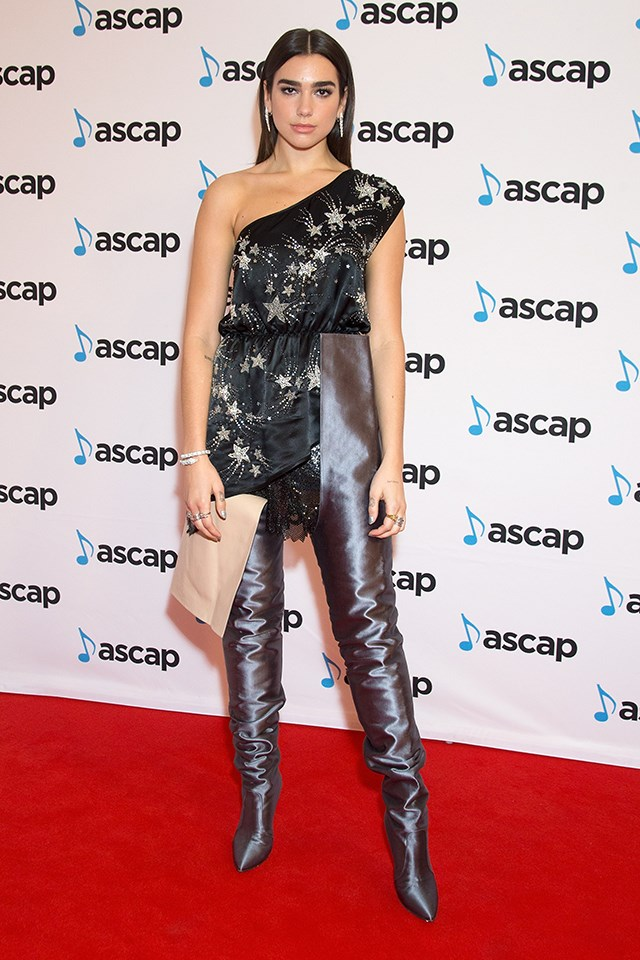 Dua Lipa at the ASCAP Awards in October 2017.
