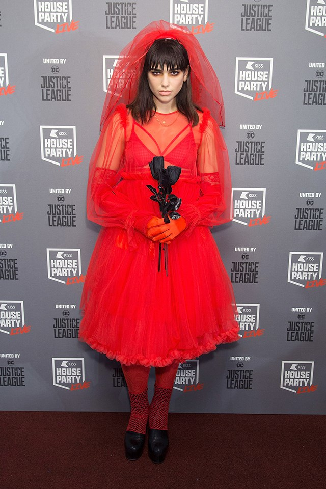 Dua Lipa at the Kiss Haunted House Party in October 2017.