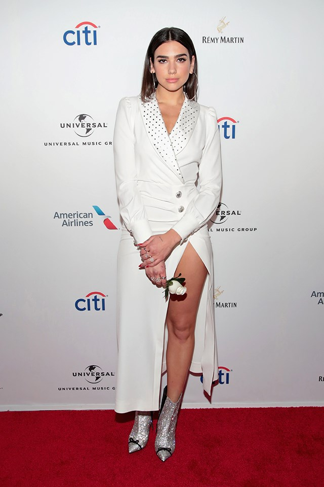 Dua Lipa at Universal Music Group's Grammys after-party in January 2018.