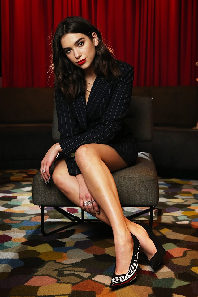 Dua Lipa posing for a portrait session in Sydney in March 2018.