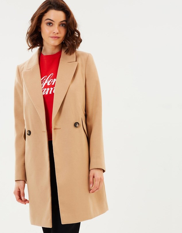 """Coat, $74.95, Miss Selfridge at [The Iconic](https://www.theiconic.com.au/crombie-coat-620814.html
