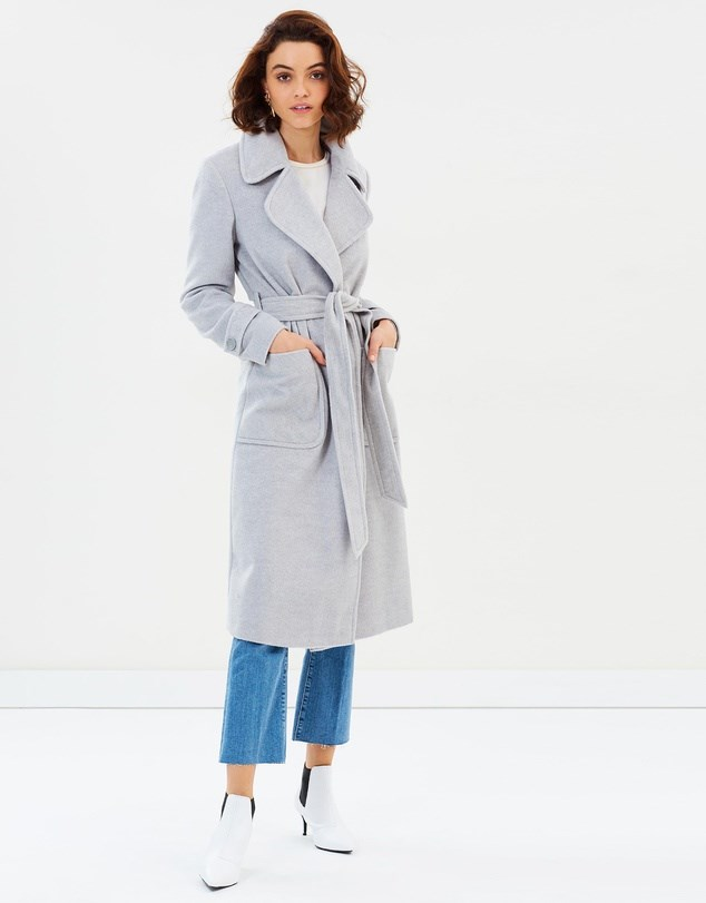 "Coat, $79.95, Miss Selfridge at [The Iconic](https://www.theiconic.com.au/wrap-coat-620805.html|target=""_blank""