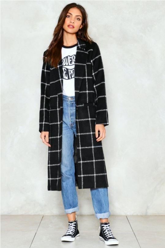 "Coat, $112 at [Nastygal](http://www.nastygal.com/au/town-square-grid-coat/AGG92433.html|target=""_blank""|rel=""nofollow"")"