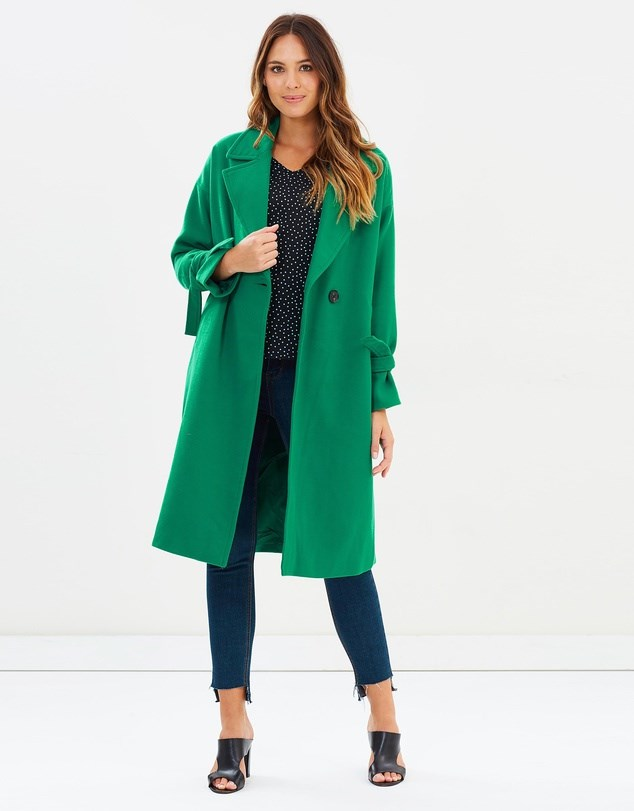 """Coat, $129.95, Vero Moda at [The Iconic](https://www.theiconic.com.au/siena-long-jacket-565858.html