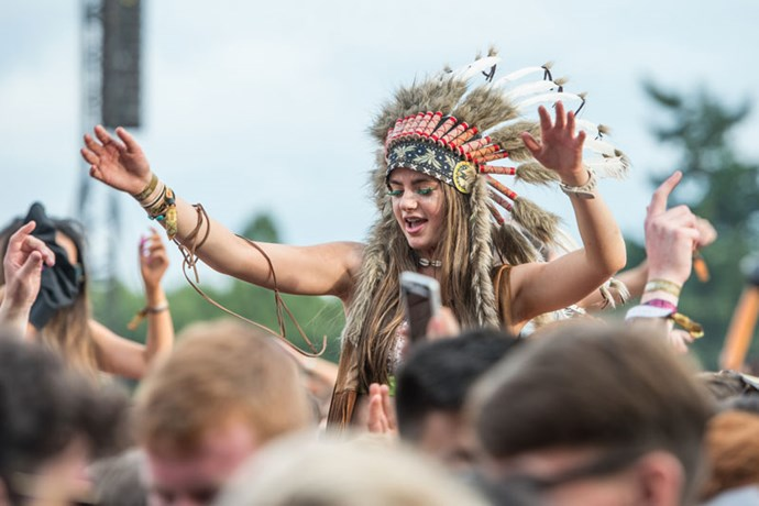 **Native American Headdress** <br><br> This one kinda goes without saying, but let's put it out there one last time: any clothing that causes a whole heap of offense really shouldn't be at Coachella. Nuf said.