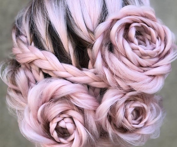 Because regular braids aren't hard enough, this stylist created a braided ROSE hairstyle