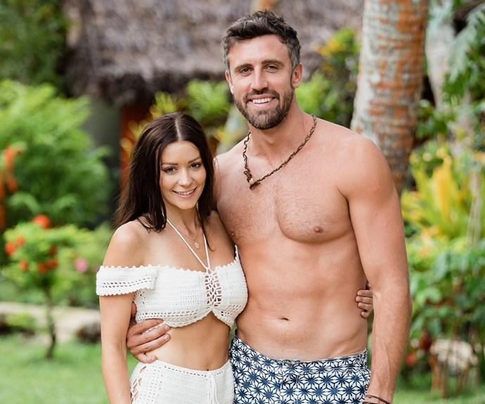 Lisa Hyde and Luke McLeod on Bachelor in Paradise Australia