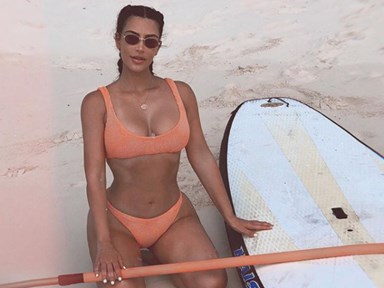 Kim Kardashian will not stop sharing fire vacay pics and here's every Instagram so far...