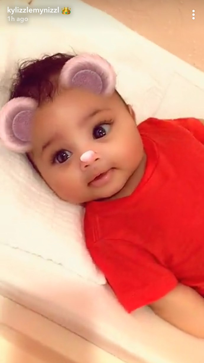 Stormi Webster flashing her MASSIVE EYES.