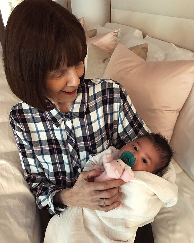Stormi Webster with her great grandmother, Mary Jo.