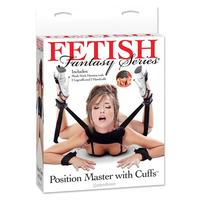 "Fetish Fantasy Sex Position Master with Restraint Cuffs, $49.95 from [Lovehoney](https://www.lovehoney.com.au/product.cfm?p=26537|target=""_blank"")."