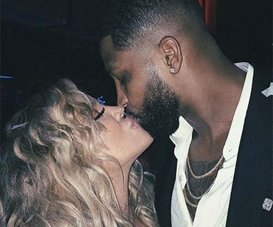 Tristan Thompson was spotted flirting with a Khloé Kardashian lookalike at an NBA event