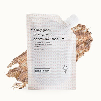 "**Express-o Coffee Scrub, $19.95 at [Frank Body](https://www.frankbody.com/au/products/expresso-scrub/|target=""_blank"").**   Of all the coffee-based exfoliating scrubs on the market, Frank Body rises to the top of the pile. Recently, they released a new no-mess version of their OG scrub and we are in *love*. (Read a full review of the Express-o Coffee Scrub [here](https://www.elle.com.au/beauty/frank-body-express-o-coffee-scrub-review-16262