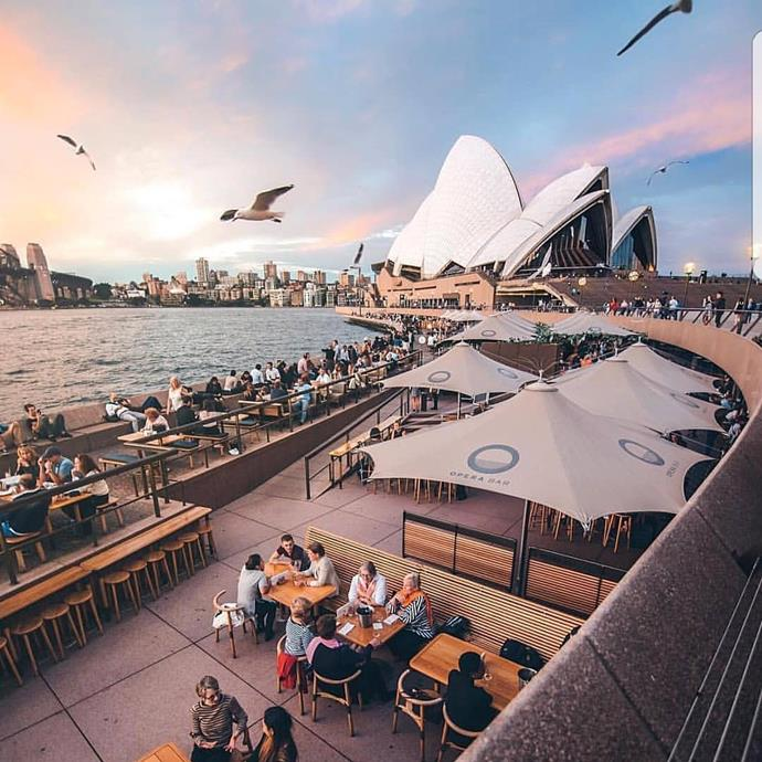**Opera Bar**  There's nothing like a view of the Opera House to chase away your Sunday blues. It might be just us, but we're pretty sure an Aperol Spritz automatically tastes better when you have a view of the water?