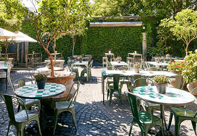 **The Beresford**   The Beresford's sunny, foliage-filled courtyard has Sunday sesh written all over it. The spot is perfect for an alfresco afternoon drink, and what's more exciting is that the courtyard is dog friendly.