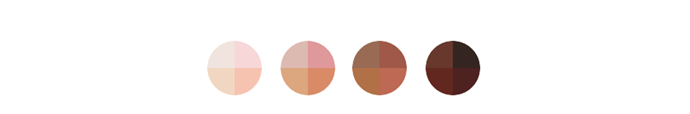 The skin tones currently available for selection.