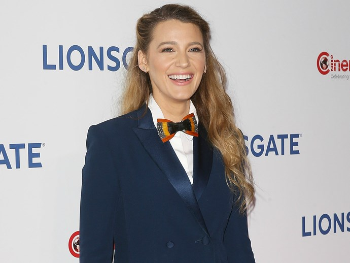 Wow, Blake Lively may have just sold me on this whole tuxedo dress thing