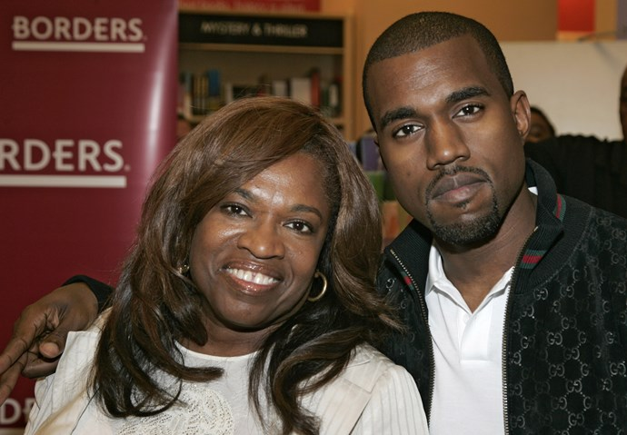 Kanye and his late mother, Danda West. GETTY