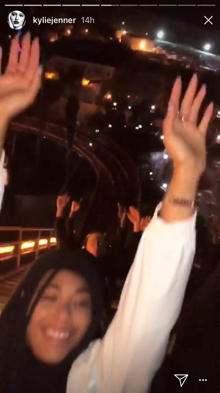Jordyn Woods on a rollercoaster at Travis Scott's birthday party.