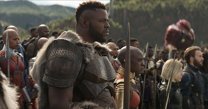 **M'Baku**  Fearsome, rugged, ripped – it's a resounding yes.