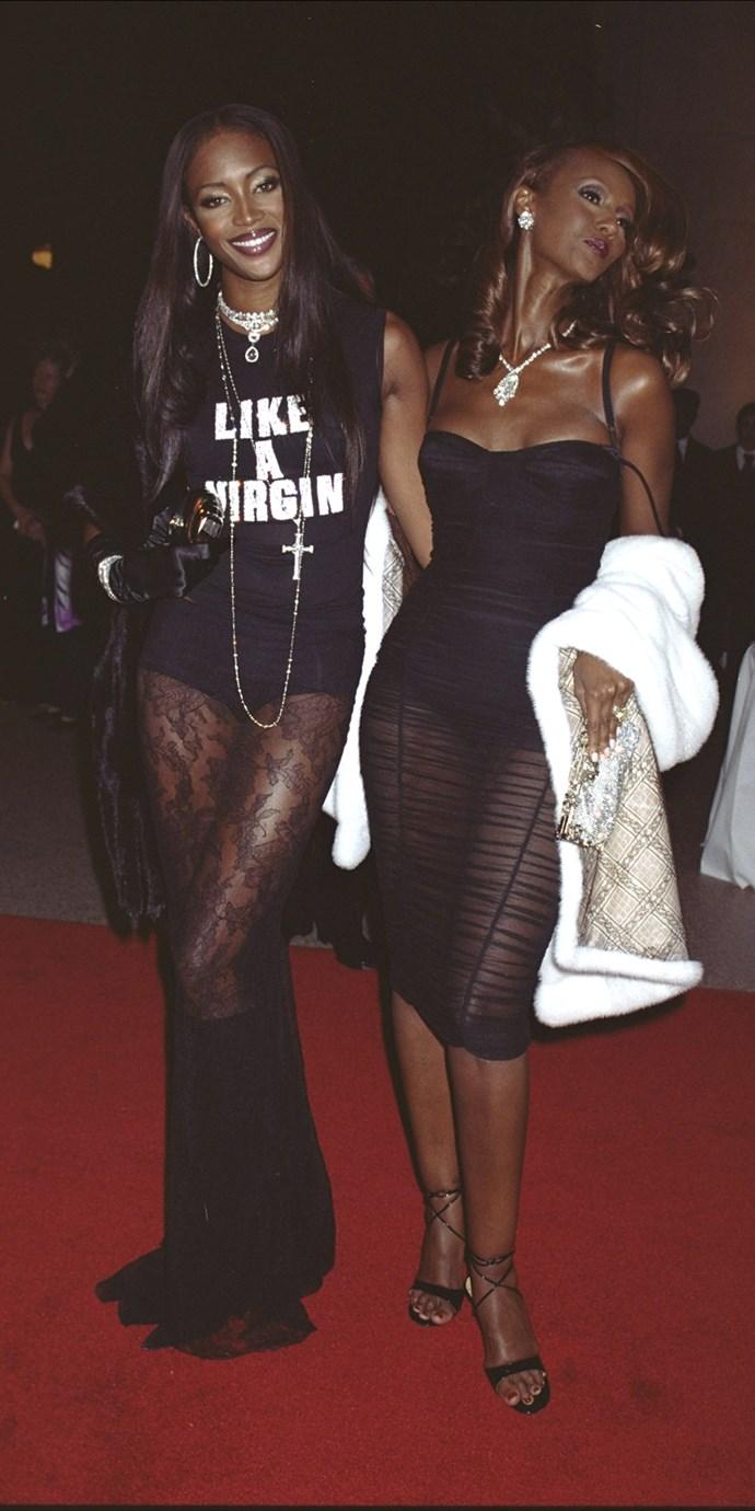 Naomi Campbell and Iman, 2001