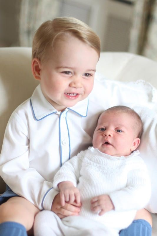 In 2015 Kate photographed Prince George cuddling his then-newborn sister, Princess Charlotte in an adorable series of images.