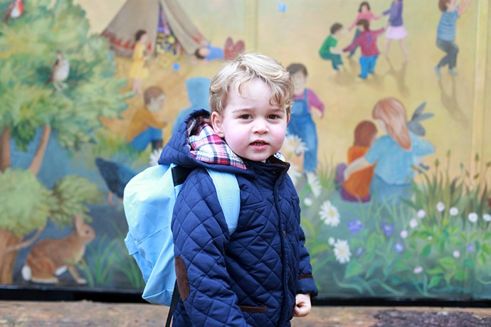 The Duchess also made sure to snap Prince George's first day at nursery.