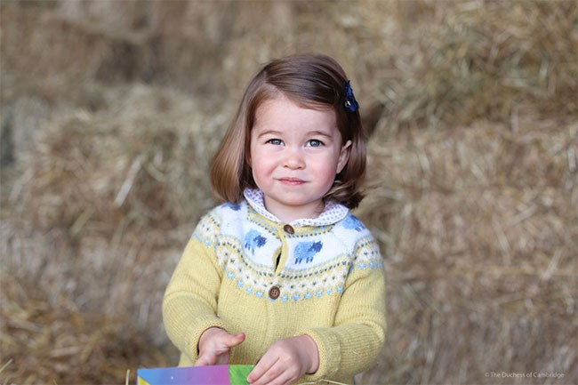 This was the portrait the Duchess took when Princess Charlotte turned two.