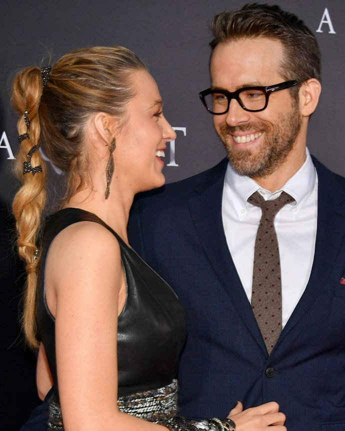 Simultaneously providing us with #hairgoals and #relationshipgoals, Blake Lively debuted an embellished braid at the New York premiere of *A Quiet Place*. The actress later boasted on Instagram how proud she was to have done her own hair that night.