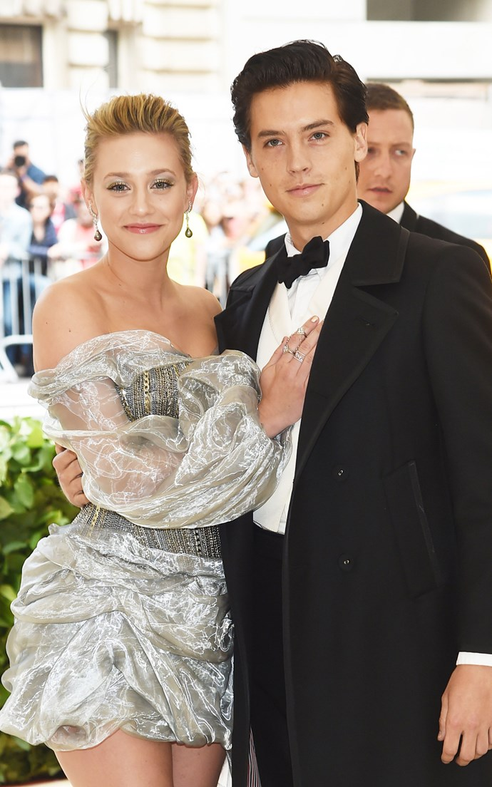 """**COLE SPROUSE AND LILI REINHART** <br><br> After months of [dancing around dating rumours](https://www.cosmopolitan.com.au/celebrity/cole-sprouse-speaks-out-about-relationship-with-lili-reinhart-25008