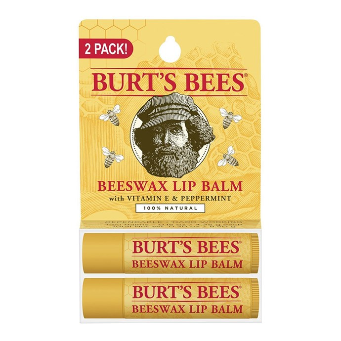 """Burt's Bees 100% Natural Beeswax Lip Balm (2 tubes), $9 at [Amazon](https://www.amazon.com/gp/product/B00076TOUO/ref=ox_sc_act_title_1?smid=A159W2C16EBSZL&th=1