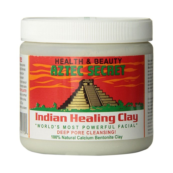 """Aztec Secret  Indian Healing Clay Deep Pore Cleansing Facial & Healing Body Mask, $11 at [Amazon](https://www.amazon.com/Aztec-Secret-Cleansing-Original-Bentonite/dp/B0014P8L9W/ref=as_li_ss_tl?_encoding=UTF8&refRID=4WJRN6PY0ZQJBZW9D79D&th=1&linkCode=sl1&tag=allure0c3-20&linkId=7ff2f611ef062d3b05d56319955b6d51