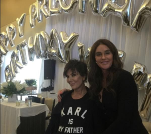 Caitlyn Jenner shares a picture of herself with Kris Jenner at Kim Kardashian's baby shower.