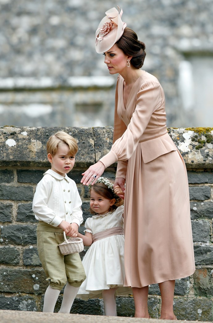 Prince George and Princess Charlotte have experience in their roles having served at their aunt, Pippa Middleton's wedding last year.