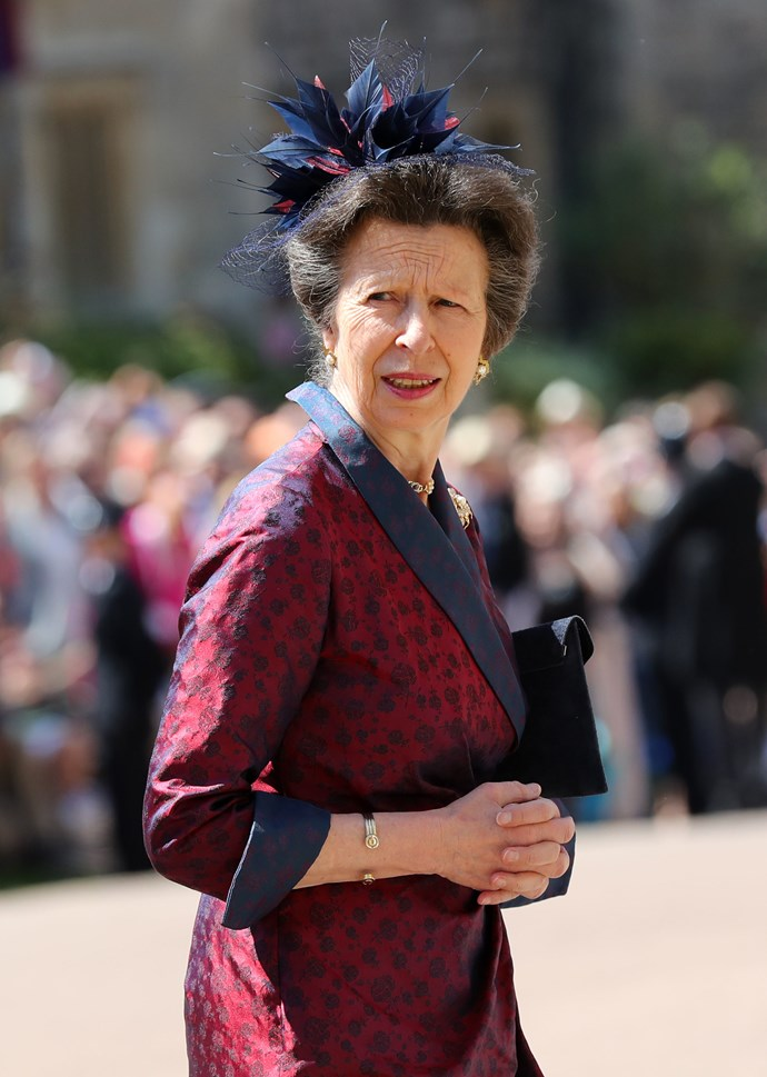 Princess Anne went with this spiky confection.