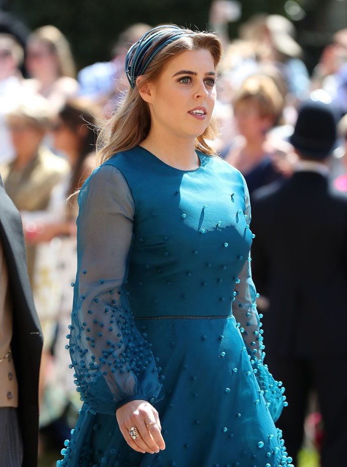 Princess Beatrice went with this strange headband thing.