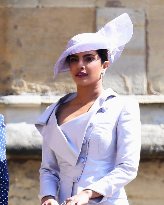 We love the colour of Priyanka Chopra's hat, but the shape was... a little UFO.