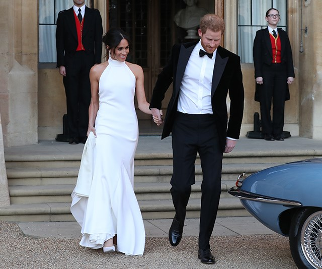 Feast your eyes on Meghan Markle's royal rule-breaking reception dress