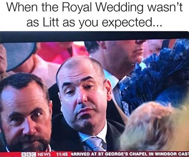 Suits' star Rick Hoffman just explained that viral royal wedding meme