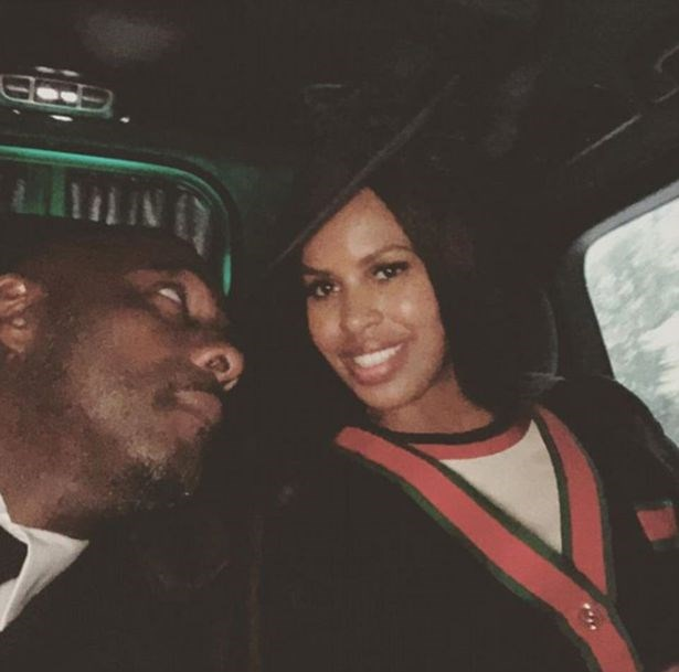 Idris Elba and Sabrina Dhowre shared photos on their way to the reception.