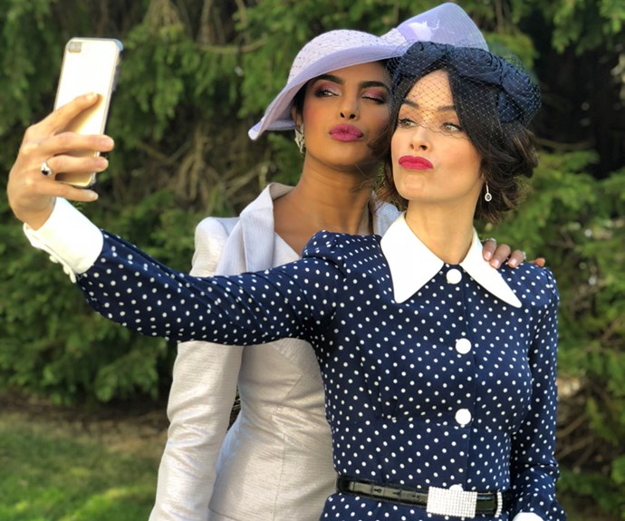 Priyanka Chopra shared a photo of she and Abigail Spencer taking a selfie.
