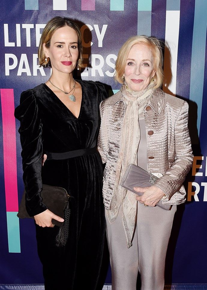 Sarah Paulson and actress gf, Holland Taylor.