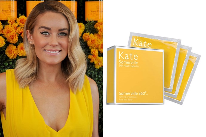"**Lauren Conrad** <br><br> LC couldn't stop the compliments rolling when she spilled about her favourite fake tanner [on her website](https://laurenconrad.com/blog/2012/04/giveaway-lauren-conrad-favorite-sunless-tanner/|target=""_blank""