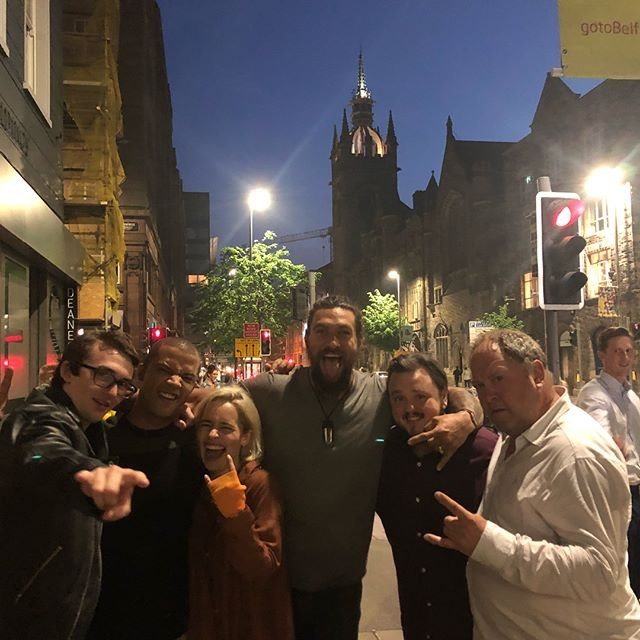 The gang met up in Ireland for one helluva night together.