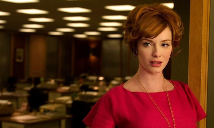 Taylor's inpso could be *Mad Men*'s Joan Hollaway, played by Christina Hendricks.